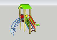 Детский спортивно-игровой комплекс с горкой ДИК-1