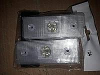 Габаритные огни для грузовиков белые 24V LED прямые, Фонарь габаритный прицепа, габариты