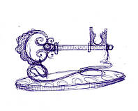 Эскиз ключа сувенирного кованого, фото 1