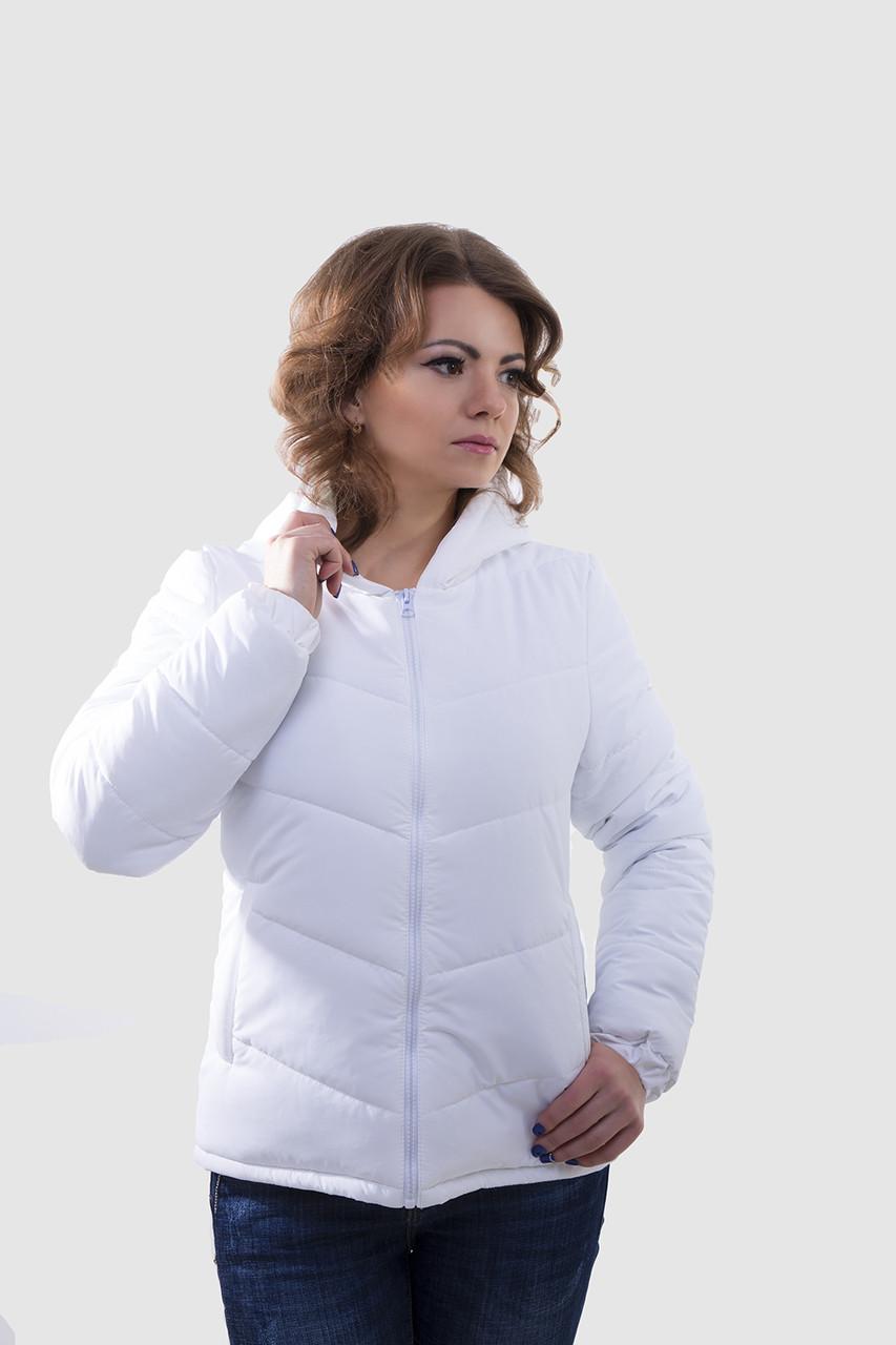 Красивая деми куртка Калипса белый