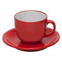 Набор керамический ALPINA 250 мл красного цвета под нанесение изображения (логотипа)