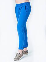 Модные женские брюки на резинке, синего цвета