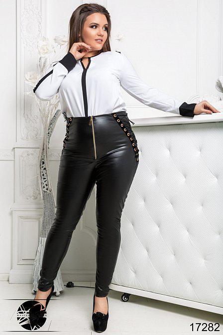 Модные лосины женские со шнуровкой, Мода плюс