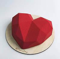 """Силиконовая форма для заливки и формовки """"Сердце-кристалл"""", форма для евродесертов"""