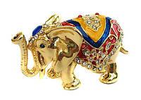 Статуэтка Слон шкатулка со стразами