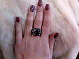 Мужское кольцо с черным ониксом в нержавеющей стали размер 20,5. Шик!!, фото 8