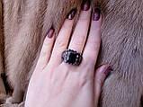 Мужское кольцо с черным ониксом в нержавеющей стали размер 20,5. Шик!!, фото 7