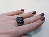 Мужское кольцо с черным ониксом в нержавеющей стали размер 20,5. Шик!!, фото 6