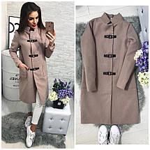 Женское кашемировое пальто на застёжках , фото 2
