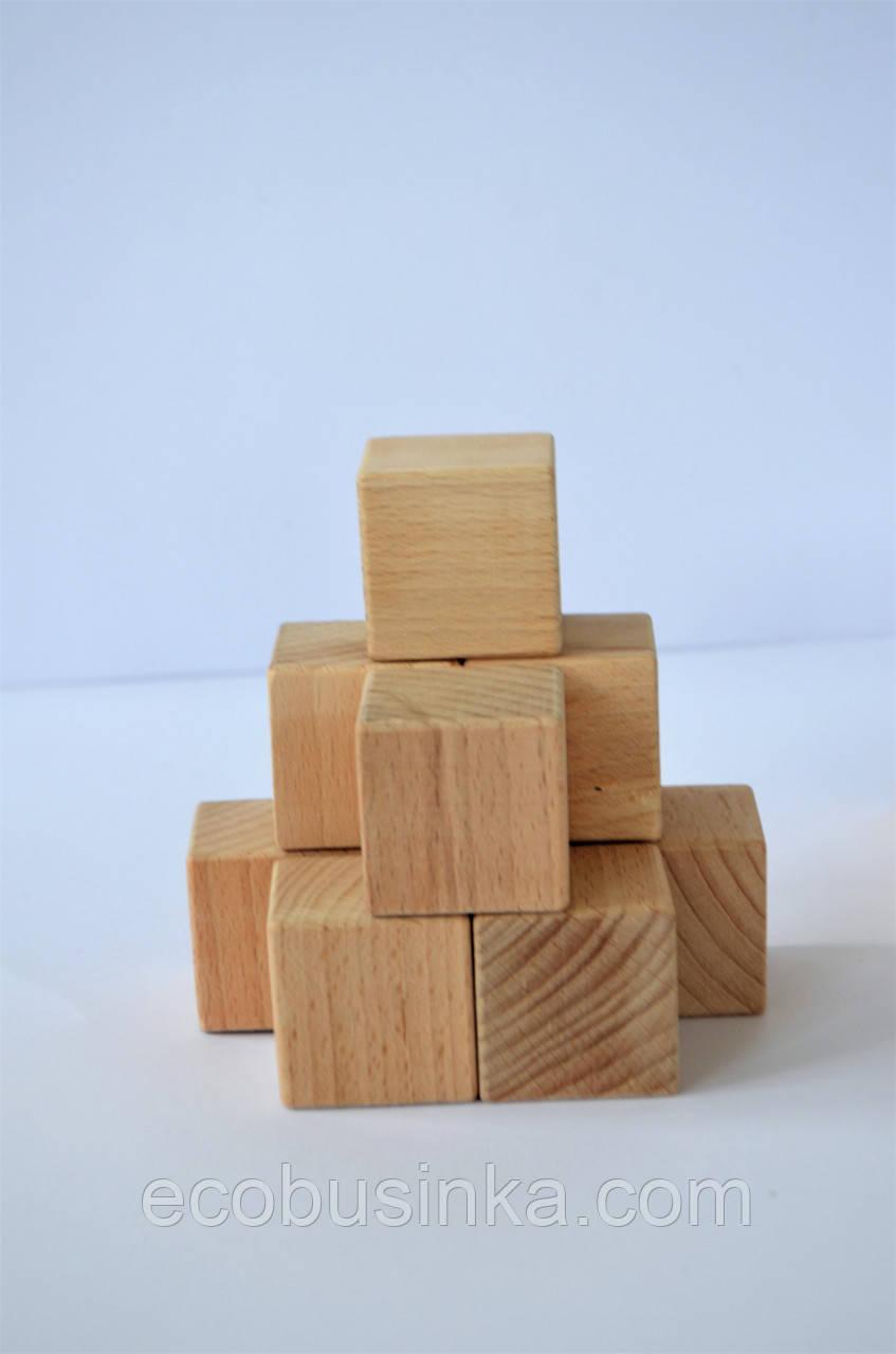 Деревянные кубики 4см