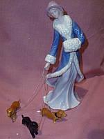 Дама с собачками таксами в голубом 23х10 сантиметров