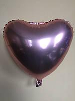 """Фольгированные шары """"Сердечки"""" 18"""" (45 см)  Розовое золото Balloons"""