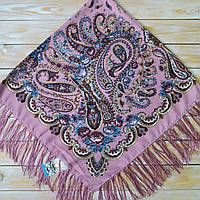 Красивый женский платок с цветами (120х120см,  80%-шерсть)