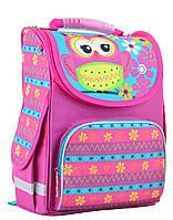 Рюкзак каркасный ортопедический   PG-11 Owl pink , 31*26*14, SMART, фото 1