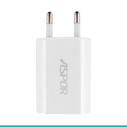 Сетевое зарядное устройство Aspor A821 + кабель microUSB, фото 2