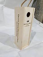 Коробка для вина на подарок выполненная из фанеры с логотипом вина
