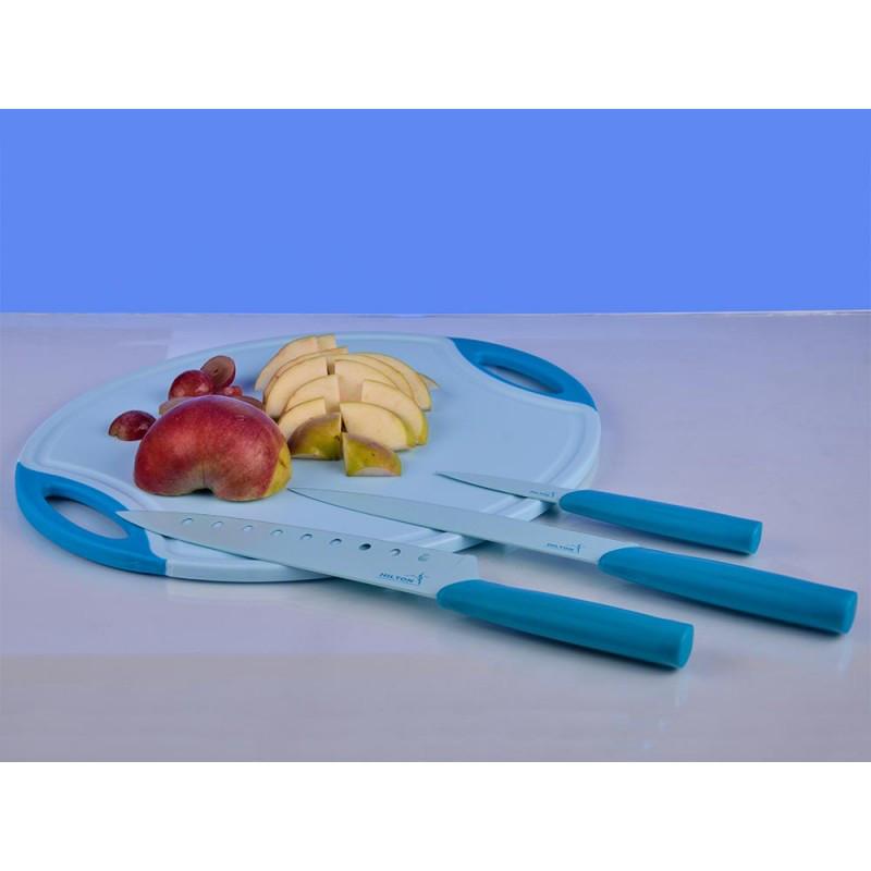 Набор для нарезки Hilton FO-8SCP  3 различных ножа и разделочная доска