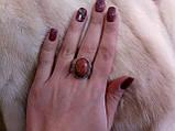 """Кольцо с авантюрином (""""золотой песок""""). 21 размер.Тибетское серебро., фото 3"""
