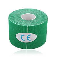 Кинезио тейп GREEN Kinesio tape) 5м снимает боль в мышцах и суставах новый метод лечения эластичный бинт спорт