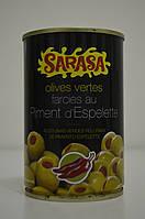 Оливки зеленые фаршированные перцем Sarasa 300 г