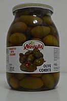 Гигантские оливки Novella с косточкой с перцем чили, 980 г Италия