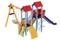 Детский игровой комплекс Авалон с металической горкой H-1,5 м