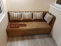 """Диван для кухни, лоджии, балкона """"Комфорт"""" экокожа + ткань 1100х500мм"""