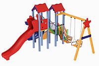 Детский игровой комплекс Авалон с пластиковой горкой H-1,5 м