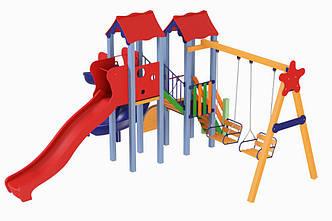 """Детский игровой комплекс """"Авалон с пластиковой горкой"""" H-1,5 м , фото 2"""