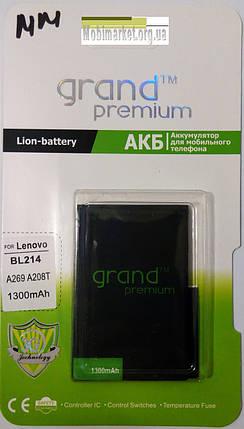 Акумулятор Grand premium для LENOVO BL214/A269/A208T 1300mAh, фото 2