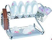 Кухонная сушка (сушилка) для посуды двухярусная Empire (ЕМ-9785)