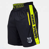 Shelby Shorts - Black/Neon Lime, фото 1