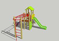 детская спортивно игровая площадка ДИК-4