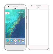 Защитное стекло Full Cover на Google Pixel XL Белое
