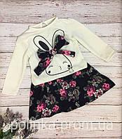"""Хлопковое платье на девочку """"Bunny"""""""