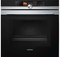 Электрический духовой шкаф с микроволновкой и пароваркой Siemens HN678G4S1 (67 л, 3650 Вт)