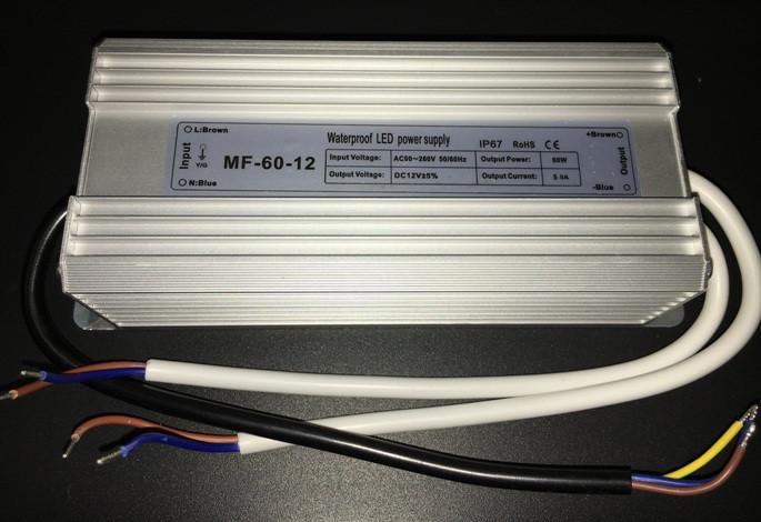 Блок питания 12В; 5А; 60 Вт IP67 герметичный Код.56115