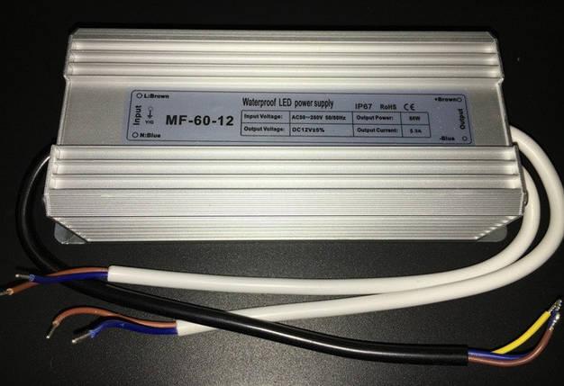 Блок питания 12В; 5А; 60 Вт IP67 герметичный Код.56115, фото 2