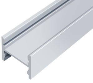 Алюминиевый профиль ЛПС12*16мм для LED ленты скрытое крепление серебро (за 1м) Код.56630, фото 2