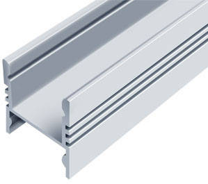 Алюминиевый профиль ЛПС17*16мм для LED ленты скрытое крепление серебро (за 1м) Код.56631, фото 2