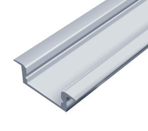Алюмінієвий профіль врізний ЛПВ7*16мм для LED стрічки срібло (за 1м) Код.56629