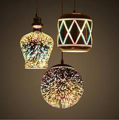 3D подвесные светильники