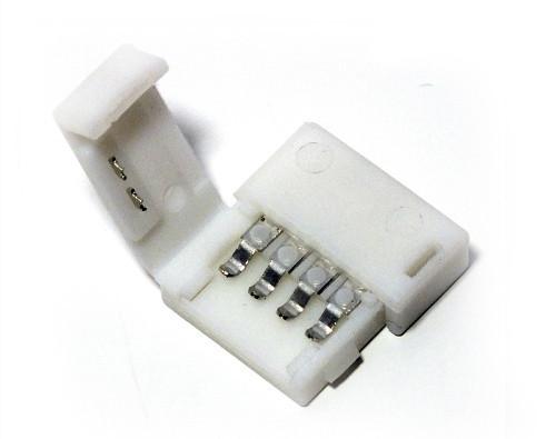 Коннектор для RGB светодиодной ленты №3 10мм (5050)зажим-зажим Код.57334