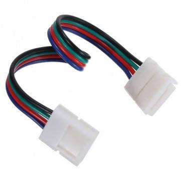 Коннектор для RGB светодиодной ленты №9 10мм (5050)провод-2зажима Код.57337, фото 2