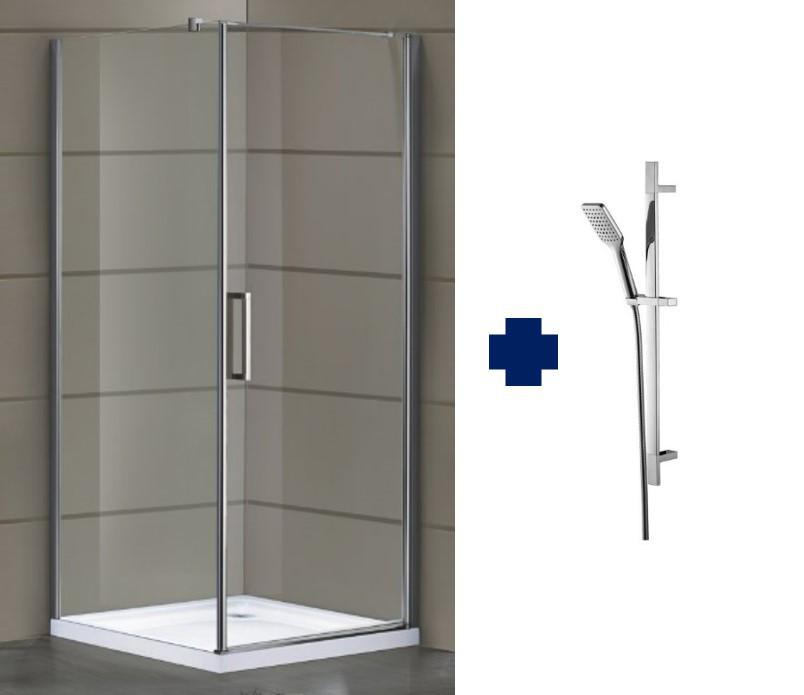 Душевая кабинка Eger Rudas 599-001R, 900х900х2120 мм + Штанга душевая, ручной душ,шланг (6607001)