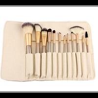 Набор кистей для макияжа 12 шт. из смешанного ворса, фото 1
