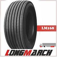 Шина 445/45R19.5 160J LongMarch LM168 рулевые, грузовые шины на полуприцеп