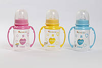 """Бутылочка с широким горлом """"Курносики"""" с ручками и силиконовой соской 250 мл / 7106 (шт)"""