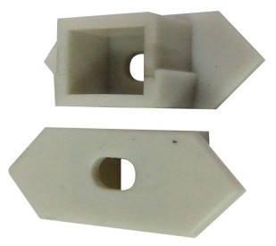 Торцевая заглушка 25*10 угловая с отверстием (1шт) Код.57805, фото 2