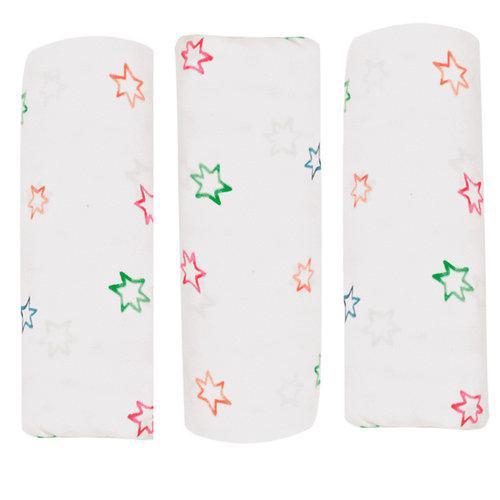 Пеленки детские фланелевые байковые ALVI 80х80 3 шт. Принт звезды